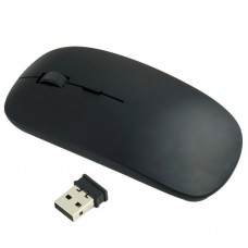 Беспроводная ультратонкая мышь мышка Чёрная