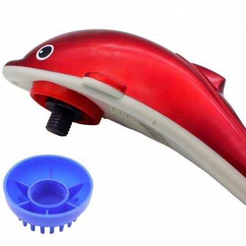 Ручной массажер вибромассажер для тела спины шеи Дельфин большой