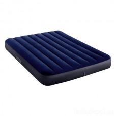 Велюровый двухспальный матрас Intex 64758 191x137x25 см Синий