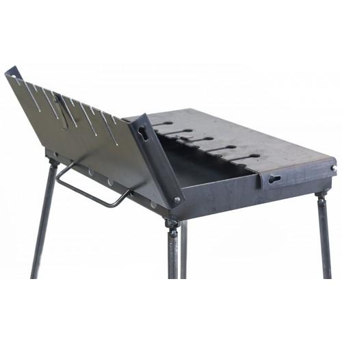 Раскладной мангал чемодан 2 мм на 6 шампуров толщина 2 мм