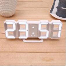 Электронные настольные LED часы с будильником и термометром Caixing CX-2218 белые (белая подсветка)