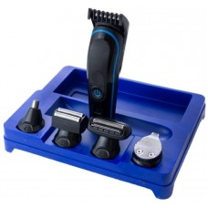 Беспроводная машинка для стрижки, бритья, триммер Gemei GM-563 5в1 Синий
