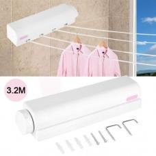 Автоматическая вытяжная настенная сушилка для белья, бельевая веревка (4 шнура по 3,2 метра)
