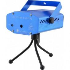 Лазерный проектор, стробоскоп, диско лазер UKC SF-6E 6 в 1 c триногой Синий
