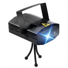 Лазерный проектор, стробоскоп, диско лазер UKC HJ06 6 в 1 c триногой ЧЁРНЫЙ 4054