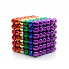 Неокуб Neocube 216 шариков 5мм в металлическом боксе (разноцветный)