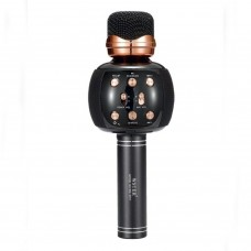 Беспроводной микрофон караоке блютуз WSTER WS-2911 Bluetooth динамик USB Чёрный