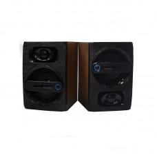 Компьютерные деревянные колонки акустика FT-108 Тёмно - коричневые