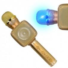 Беспроводная портативная колонка + караоке микрофон 2 в 1 Magic Karaoke YS-68 Золотой