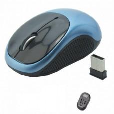 Мышка беспроводная оптическая G185 мышь мини Чёрная c Синим