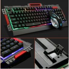 Игровая проводная клавиатура с мышкой и LED подсветкой K33