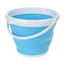 Ведро 10 литров туристическое складное Collapsible Bucket Синий
