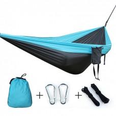 Подвесной нейлоновый туристический гамак Travel hammock Синий