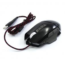 Игровая компьютерная проводная мышка USB Jedel GM770 с подсветкой Чёрный