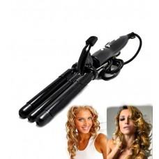 Тройная плойка щипцы для волос керамический утюжок Pro Mozer MZ-6621