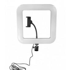 Кольцевая LED лампа D35 28 см 34 W с держателем для телефона селфи кольцо для блогера Квадратное