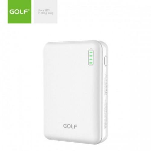 Внешний аккумулятор Power bank GOLF G73 10000 Mah батарея зарядка Белый