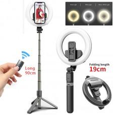 Кольцевая LED лампа L07 16 см с держателем для телефона селфи кольцо для блогера с треногой