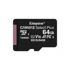Карта памяти Kingston 64GB MicroSDXC Class 10 Canvas Select plus 100R A1