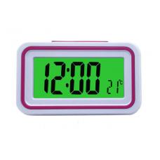 Будильник говорящие часы KENKO 9905 TR Белый с Розовым