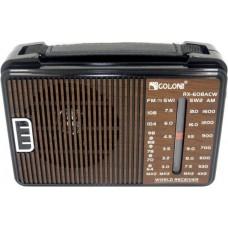 Портативный радио приемник GOLON RX-608ACW от сети 220В Коричневый