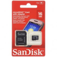 Карта памяти SanDisk Ultra microSD 16GB Class 10 + SD-adapter