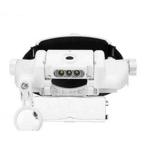 Бинокуляр очки бинокулярные со светодиодной подсветкой MG81000GC