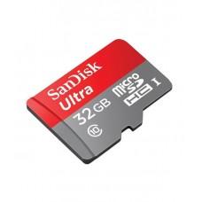 Карта памяти SanDisk Ultra microSD HC UHS-I 32GB Class 10 + SD-adapter