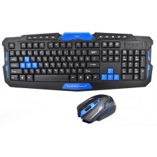 Игровая русская беспроводная клавиатура + мышка HK8100